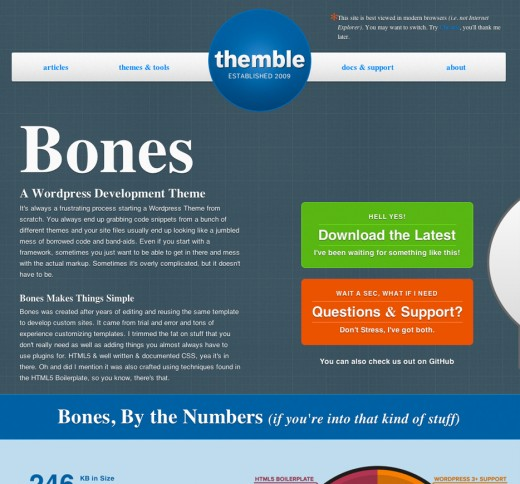 Bones WordPress Boilerplate Template
