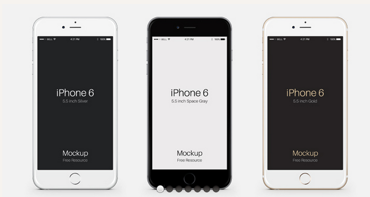 pixeden.com - iPhone 6 Plus Psd Vector Mockup